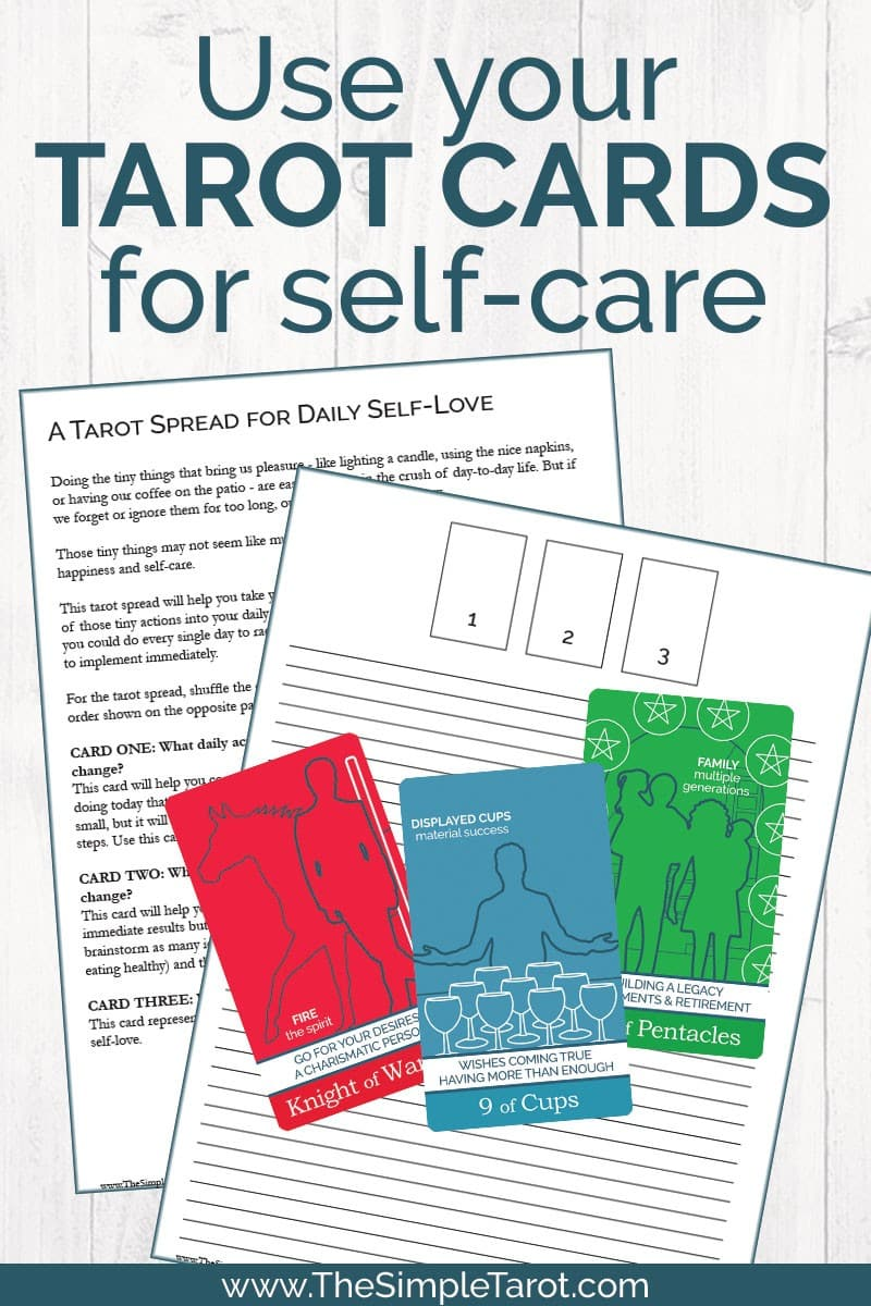 The Tarot Spread for Daily Self-Love will help you take your self-care to the next level by bringing back some of your favorite tiny actions into your daily life. Get the printable PDF tarot journaling page from The Simple Tarot.