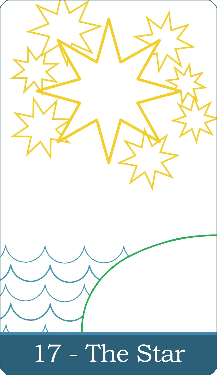 The Star tarot card from The Simple Tarot Deck.