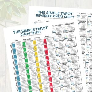 The printable Tarot Cheat Sheet from The Simple Tarot.