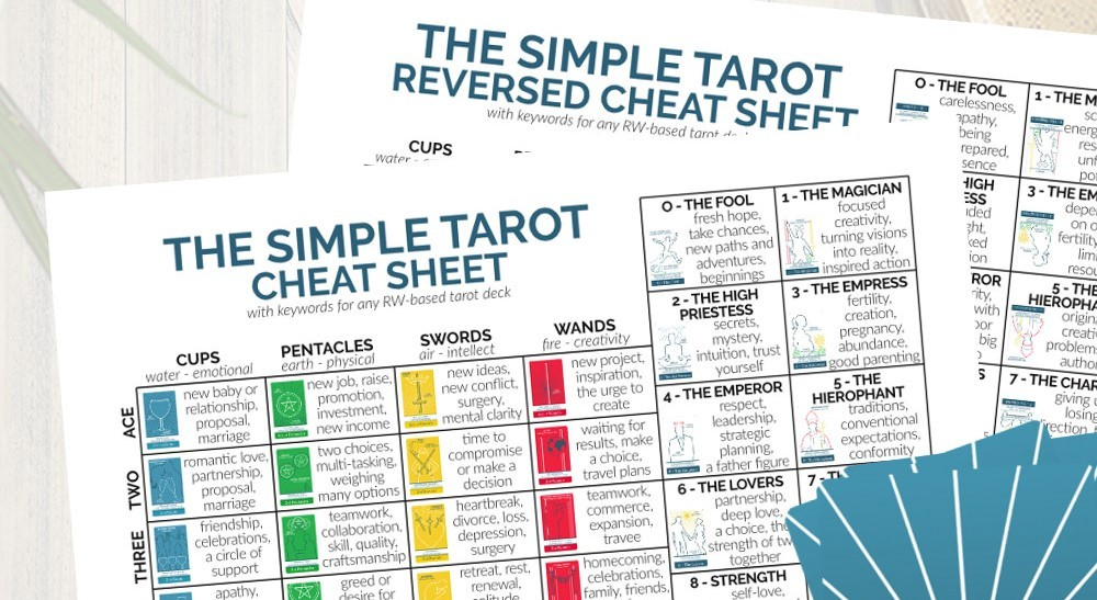 Get your free tarot cheat sheet download from www.TheSimpleTarot.com.
