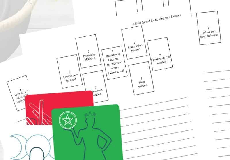 Printable tarot journal pages from The Simple Tarot.