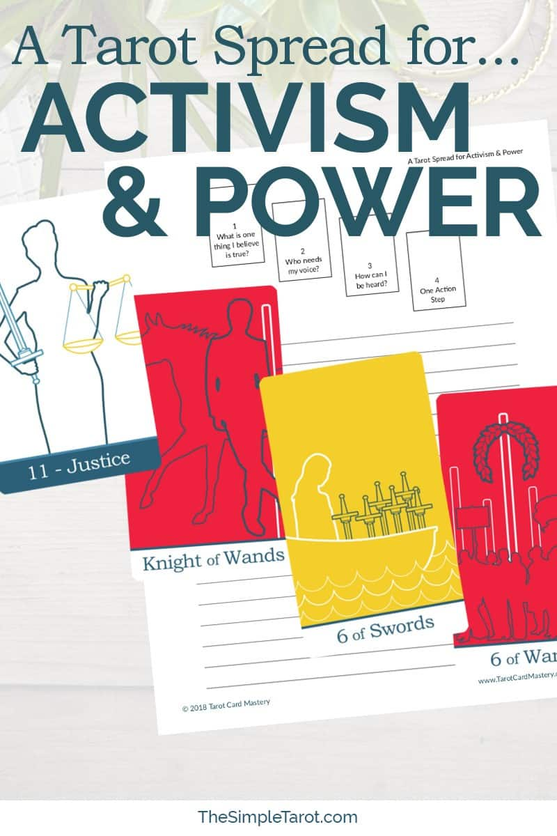 Get this PDF printable Tarot Spread for Activism and Power from The Simple Tarot, with companion tarot journaling page. Visit www.TheSimpleTarot.com to get your printable tarot spreads, The Daily Tarot, tarot spreads, and more...