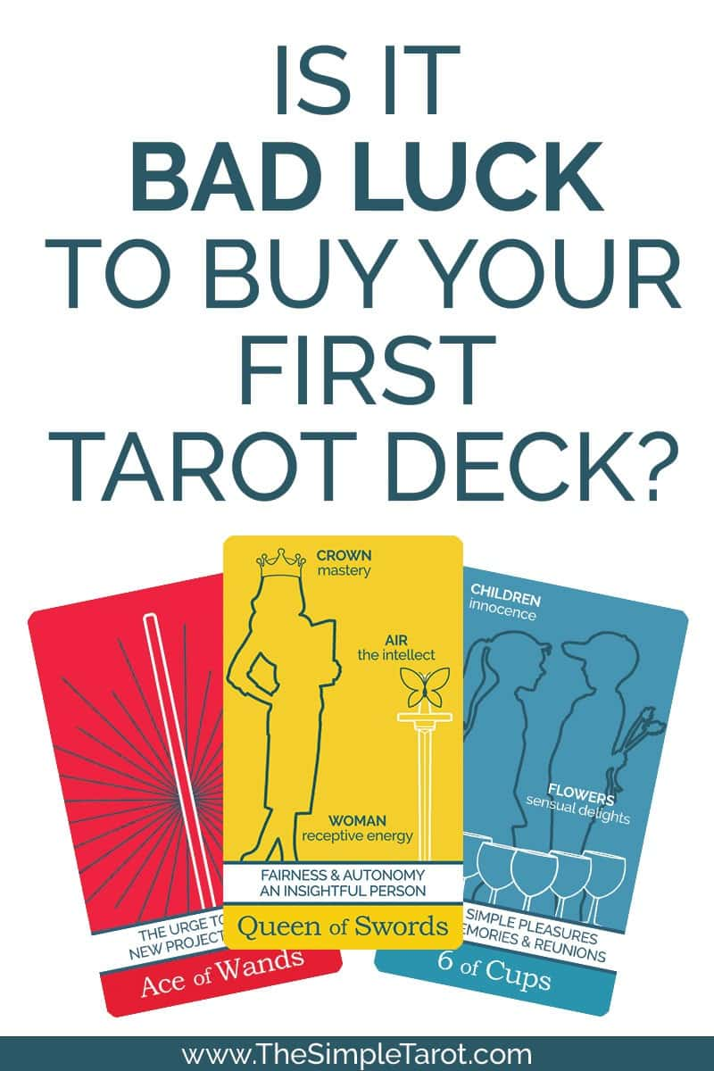 Is it bad luck to buy your first tarot deck?