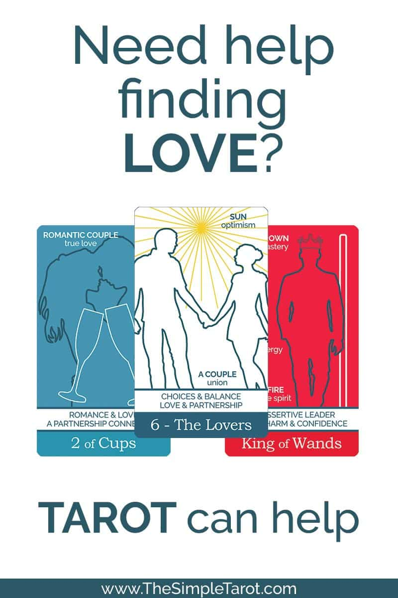 Get this free 3-Card Tarot Spread PDF printable journal page from The Simple Tarot - and then check out this post about seven different ways to read the 3-Card Spread for love. Whether you want to find your true-love-forever partner or just someone for tonight, your tarot cards have got you covered. #tarot #tarotspread #tarotprintable