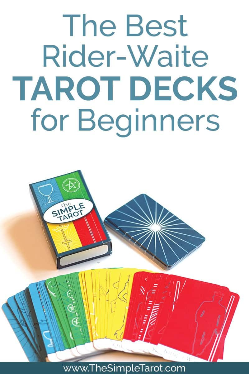 This post includes my favorite tarot decks for tarot beginners, so you'll be able to find the perfect deck for you. Of course, The Simple Tarot Deck is one of my favorites, but it's definitely NOT the only option. #tarot #tarotcards #learntarot