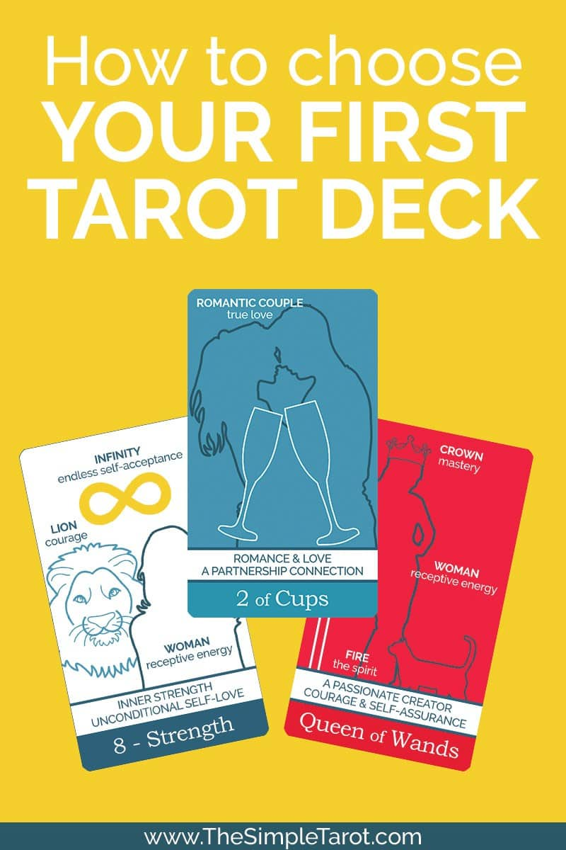 There are so many decks with beautiful artwork, but some of the most beautiful decks are some of the most difficult to read, especially when you're just starting out. So, how are you supposed to choose the right deck when you're a total tarot newbie? Find a few key tips for how to choose your first tarot deck, and learn a few of my favorites. #tarot #simpletarot #tarotcards