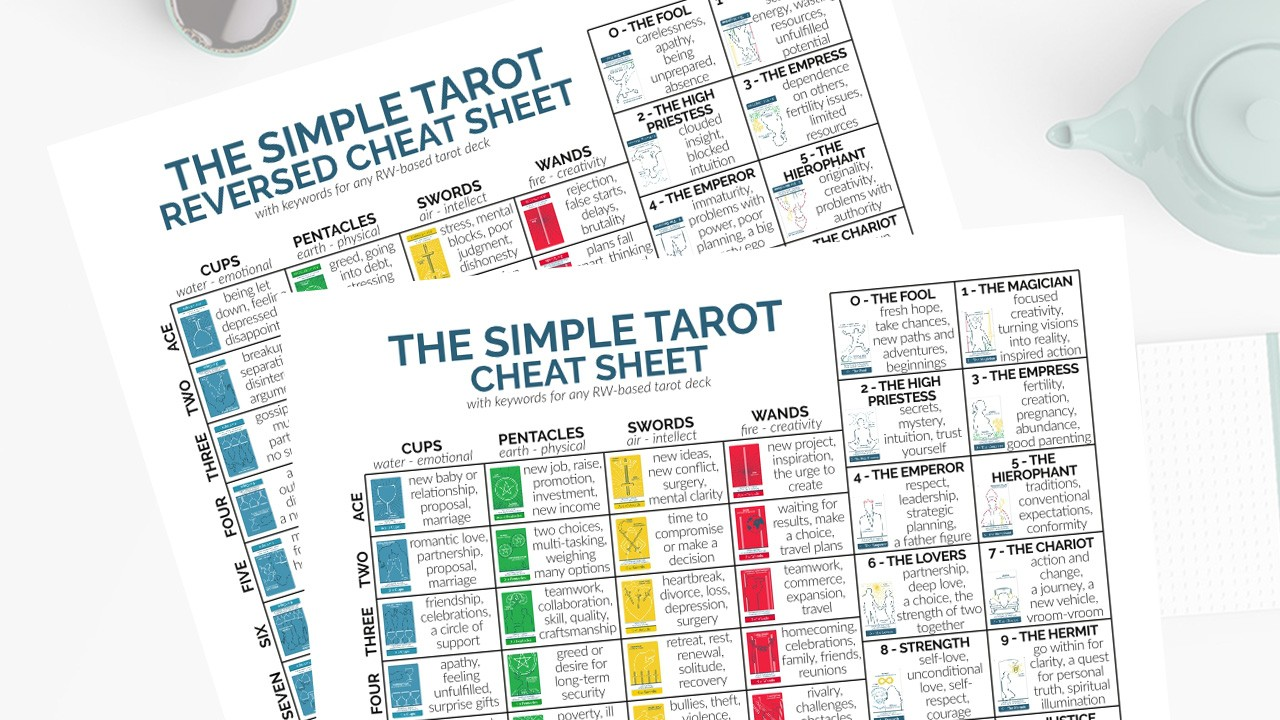 Learn the five simple tips that will make learning the tarot card meanings easy and fun. There are so many cards, so many spreads, and so many uses for tarot. It's overwhelming to tackle them all at once. So, this post will show you how to simplify things and make it easy on yourself. #tarot #learntarot